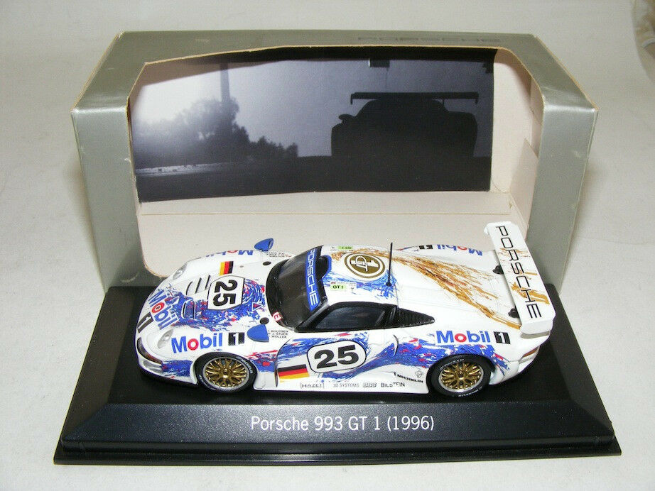 1 43 minichamps PORSCHE 911 GT1 Mobil 1 , 1996 LeMans Car