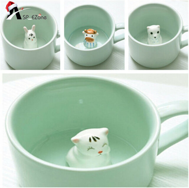 3D Small Ceramic Cute Animals Coffee Milk Cup Mug Heat-resistant Nice Gift