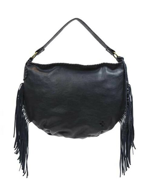 Patricia Nash Vincenzo Slouchy Leather Hobo Bag Purse Navy
