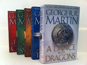 Game-of-Thrones-Hardcover-Collection-Set-George-R-R-Martin-Set-1-5-Brand-New