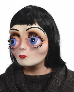 Big Eyes Latex Mask Cartoon Character Girl Beautiful Creepy Doll Face Adult New Ebay