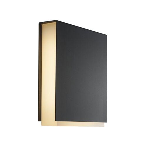 12W LED Wandleuchte Tamar Clips Wall Black NORD IP54 3x300Lm Außenwandleuchte
