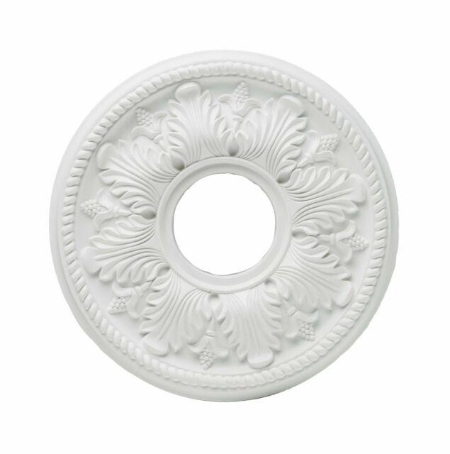White Ceiling Medallion 77750