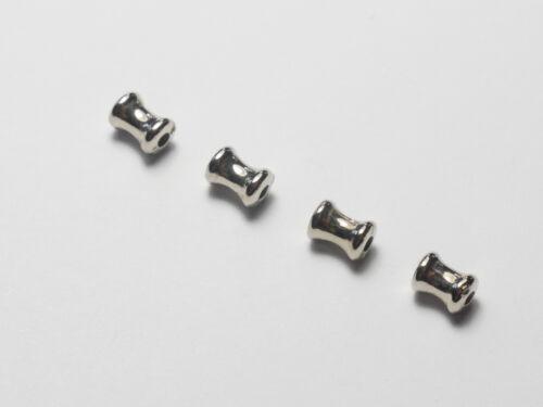 bricolaje perlas joyas accesorios nuevos Alta calidad acrílico spacer perlas plata