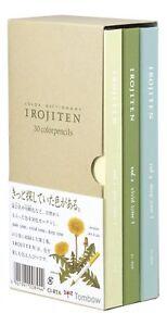 TOMBOW Irojiten Vol.1 Color Pencils Dictionary (Rainforest) CI-RTA-30 Free