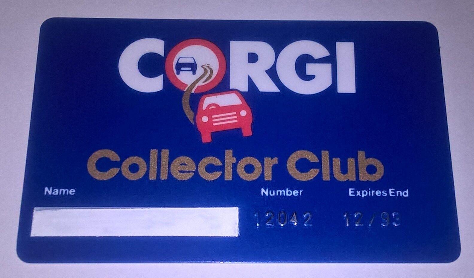 Corgi giocattoli Tessera Club Corgi Collector Anni 90. Ancora non personalizzata.