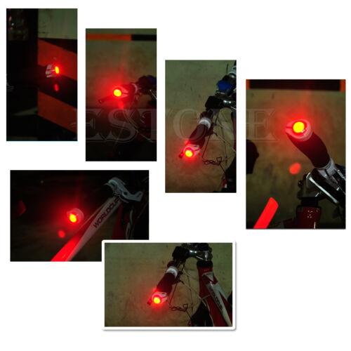 Bicycle Bike Handle Bar End Plug 2 mode Red Light LED Warning Safety Lamp 5 Type