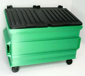 RC-1-10-Scale-Trash-Bin-GREEN-Shop-Garage-Crawler-Doll-Accessories