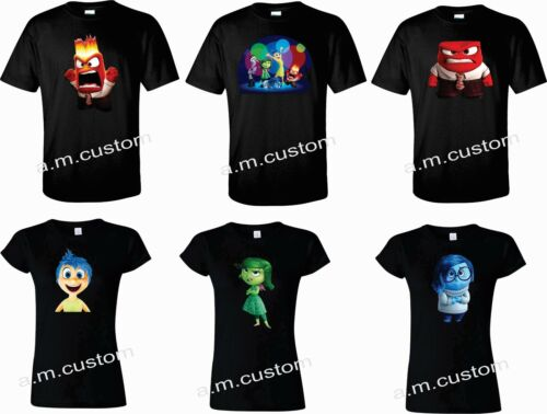 Youth Xs-4XL Inside Out movie All Characters Funny cute Shirts Adult,Ladies