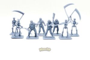 Minis3D-Rep-Heroquest-Remake-DungeonWorks-Undead-Mummy-Skeleton-Zombie