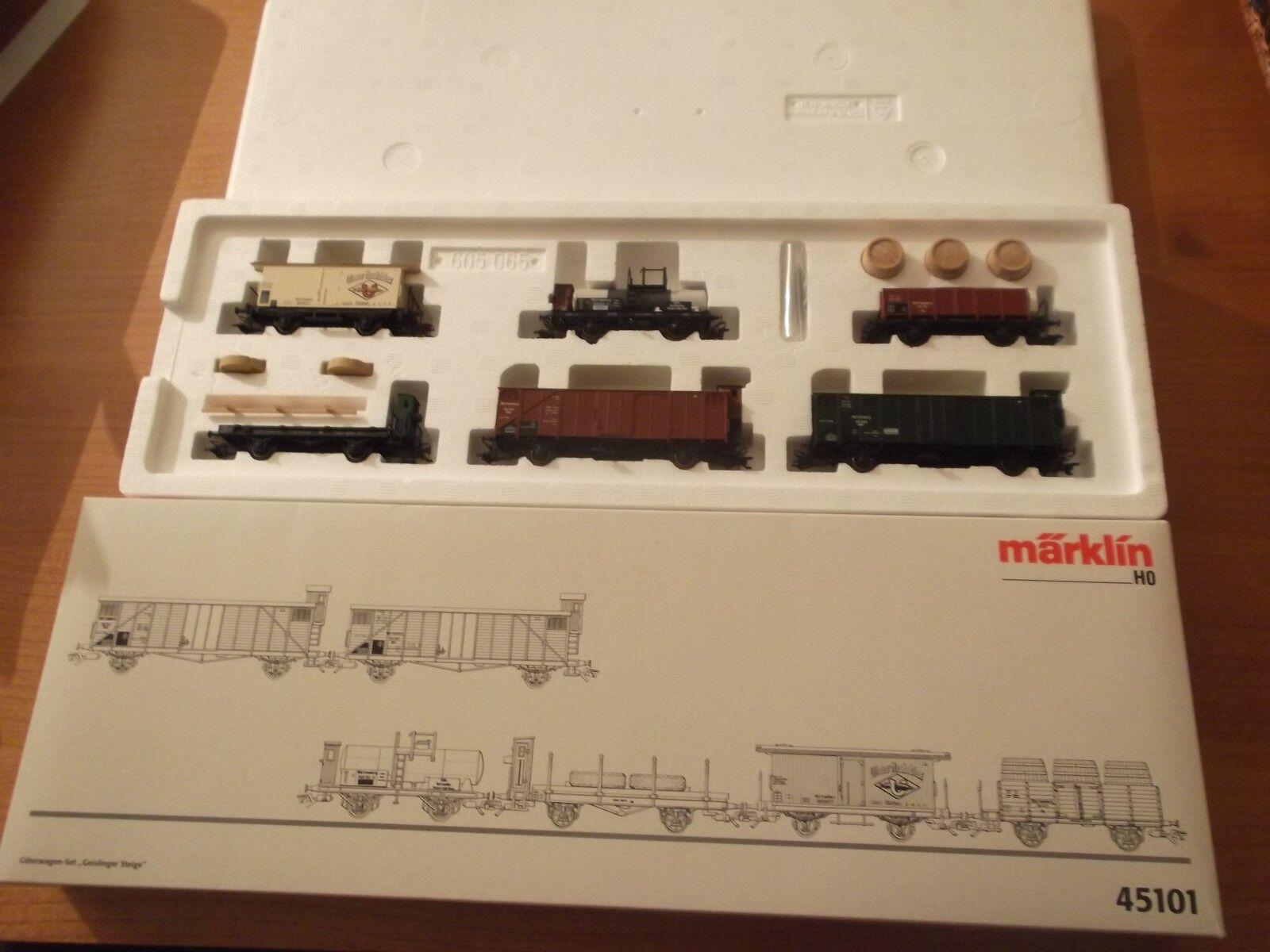 MÄRKLIN H0 45101 freight Wagon Set Geislinger Get Complete New Original