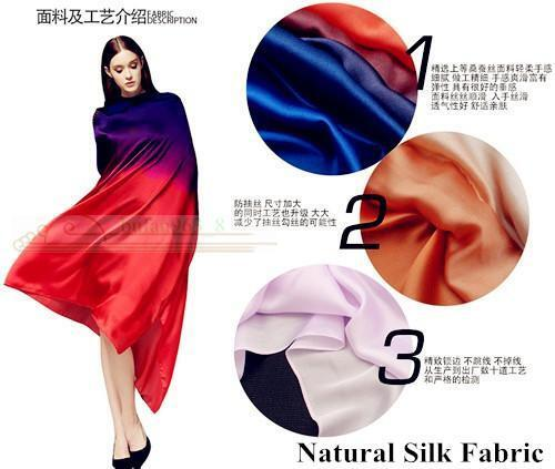 Colorful Gradient Silk Scarf Shawls Beach Towel Belly Dance Scarf Veil 100*190cm