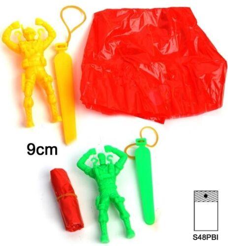 Großhandel & Sonderposten 4 x Fallschirmspringer Spielzeug Geburtstag Tombola Mitgebsel Giveaway