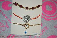 Lucky Brand Bracelet Trio Semi Precious Accents Jld0639 Love Heart Valentine