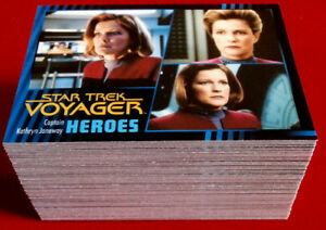 STAR-TREK-VOYAGER-Heroes-amp-Villains-Complete-Base-Set-99-cards-Rittenhouse
