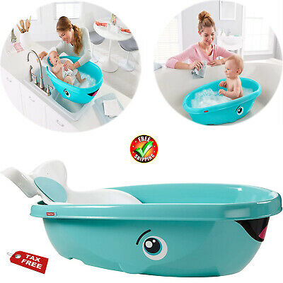 Fisher Price Whale Baby Kids Toddler Newborn Safety Shower Bath Seat Tub