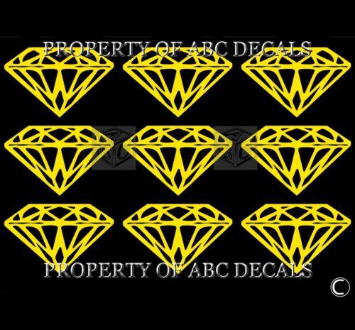 VRS Diamond 9 PC LOT 2 INCH Vinyl CAR Decal Wall Stickers