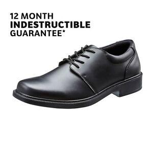 DéSintéRessé School Shoes Boys Black Leather Lace Up 12 Month Indestructible Guarantee Treads-afficher Le Titre D'origine Une Offre Abondante Et Une Livraison Rapide