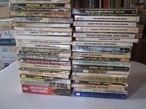 LOUIS-L-039-AMOUR-LARGE-LOT-OF-40-VINTAGE-WESTERN-PAPERBACKS-Westerns-Novels-LAmour