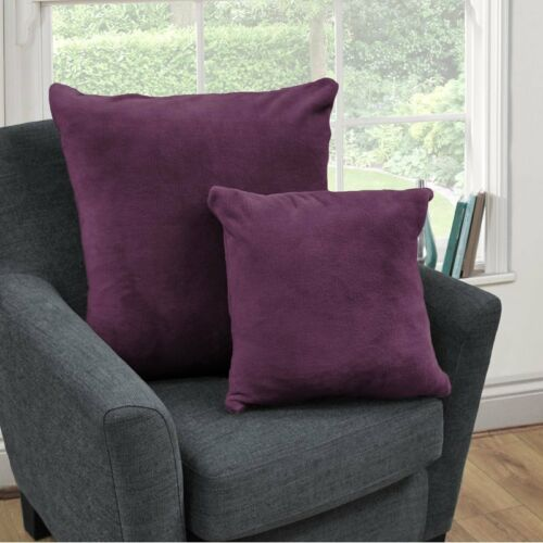 Plum 59 x 59cm Cascade Home Scatter Square Cushion  Living Micrefleece
