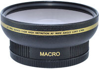 .43x Wide Angle + Macro 72mm For Sony Cybershot Dsc-h7 Dsc-h9 Hdr-fx1 Hvr-s270