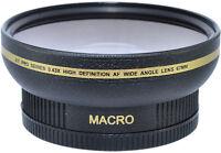 .43x Wide Angle + Macro 72mm For Sony Cybershot Dsc-h7 Dsc-h9 Hdr-fx1 Hvr-s270
