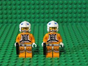 Lot-of-2-LEGO-Star-Wars-SNOWSPEEDER-PILOT-Minifigures-minifigs-Zev-Senesca-SP1