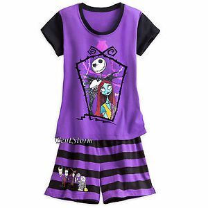 image is loading the nightmare before christmas jack sally short pjs
