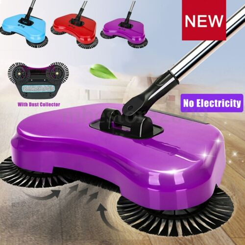 Spin Hand Push Broom Household Floor Dust Cleaning Sweeper Mop No Electricity !