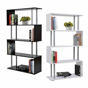 Image Is Loading 4 Level Tiers S Shape Bookcase Storage Display