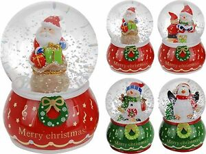 image is loading traditional large christmas snow globe glass xmas santa - Large Christmas Snow Globes