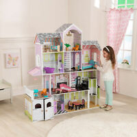 Kidkraft Grand Estate Dollhouse + 26 Pieces Of Furniture Playset (3+ Years)
