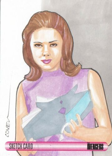 WOMEN OF AVENGERS ROY COVER SKETCH CARD EMMA PEEL