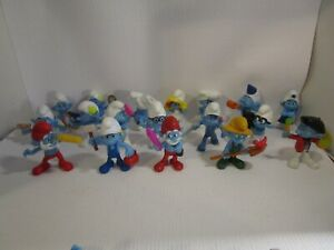 McDonald-039-s-Happy-Meal-SMURFS-Lot-of-18-Peyo-PVC-Figures-Each-Different