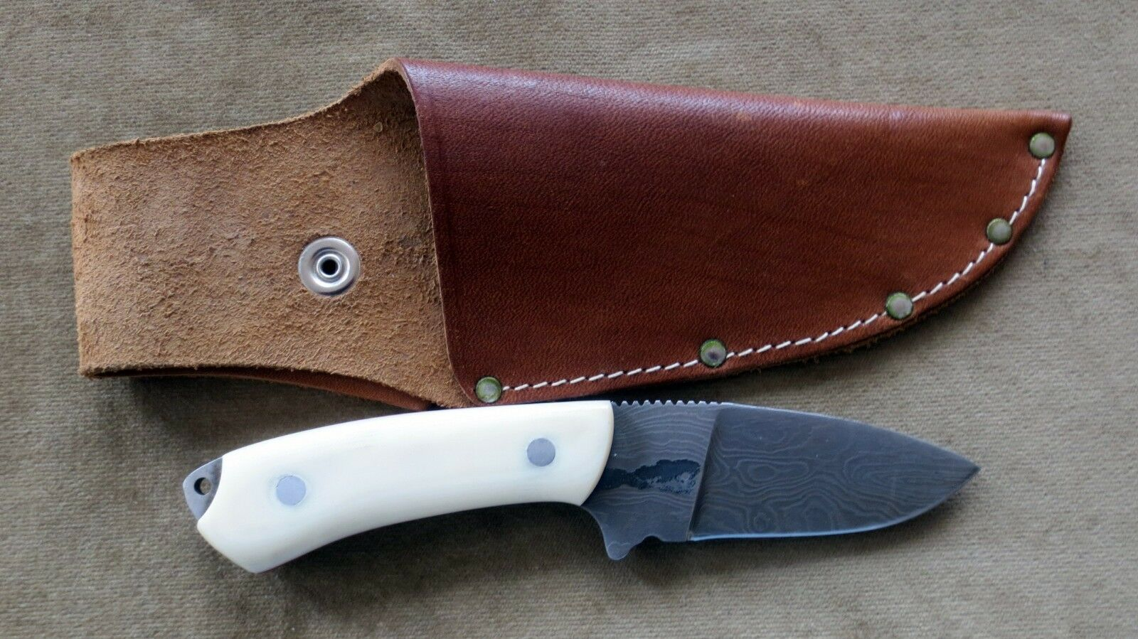 Hunting Leisure knife with Damascus Blade  248 layers, K55K RAMO Hand Made From Solingen  online shop