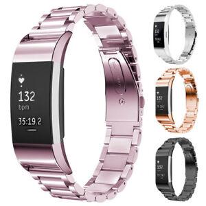Details zu Für Fitbit BlazeAlta HR Charger 3 2 Edelstahl Metall Ersatz Band Uhrenarmband