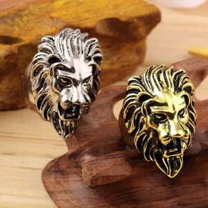 mode-jahrgang-maenner-retro-edelstahl-goldene-silber-loewen-chef-ring