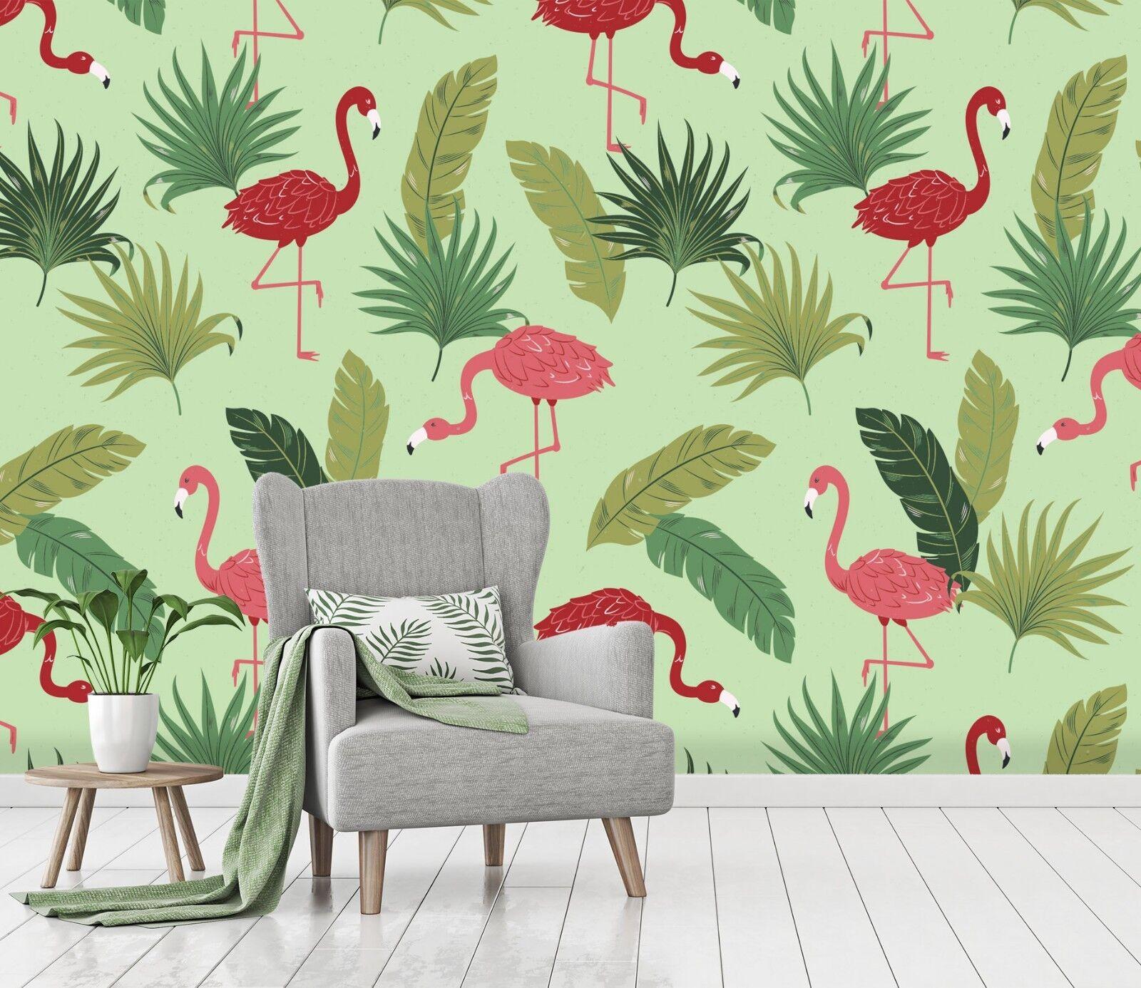 3D Tropische Pflanze Strauß 2 Tapete Wandgemälde Tapete Tapeten Familie Kinde DE