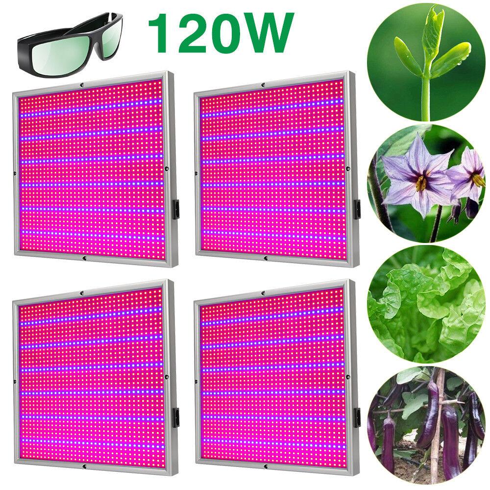 1-4pcs 120W LED Pflanzenlampe Wachstum Plant Grow Licht Lampe Pflanzenleuchte DE