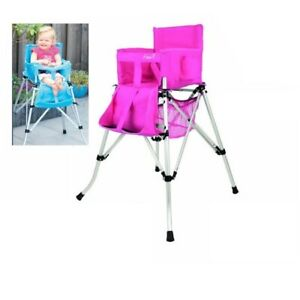 Camping-FEM-One2Stay-Hochstuhl-Kinderhochstuhl-Kinderstuhl-Stuhl-faltbar-Pink
