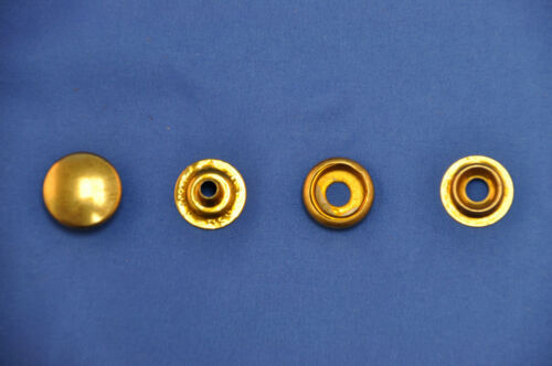 """20-4 Piece Sets Leather Craft Brass Plated Baby Snap Button Fastener Set 1//2/"""""""