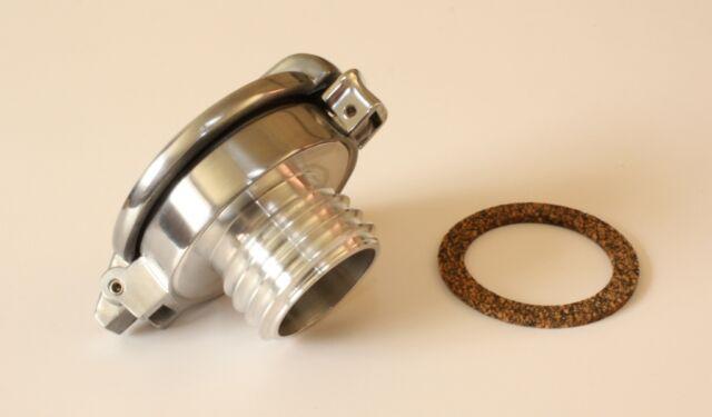 TRIUMPH Bonneville Monza Style Fuel Cap: Alloy With Hinckley Gas Tank Adapter