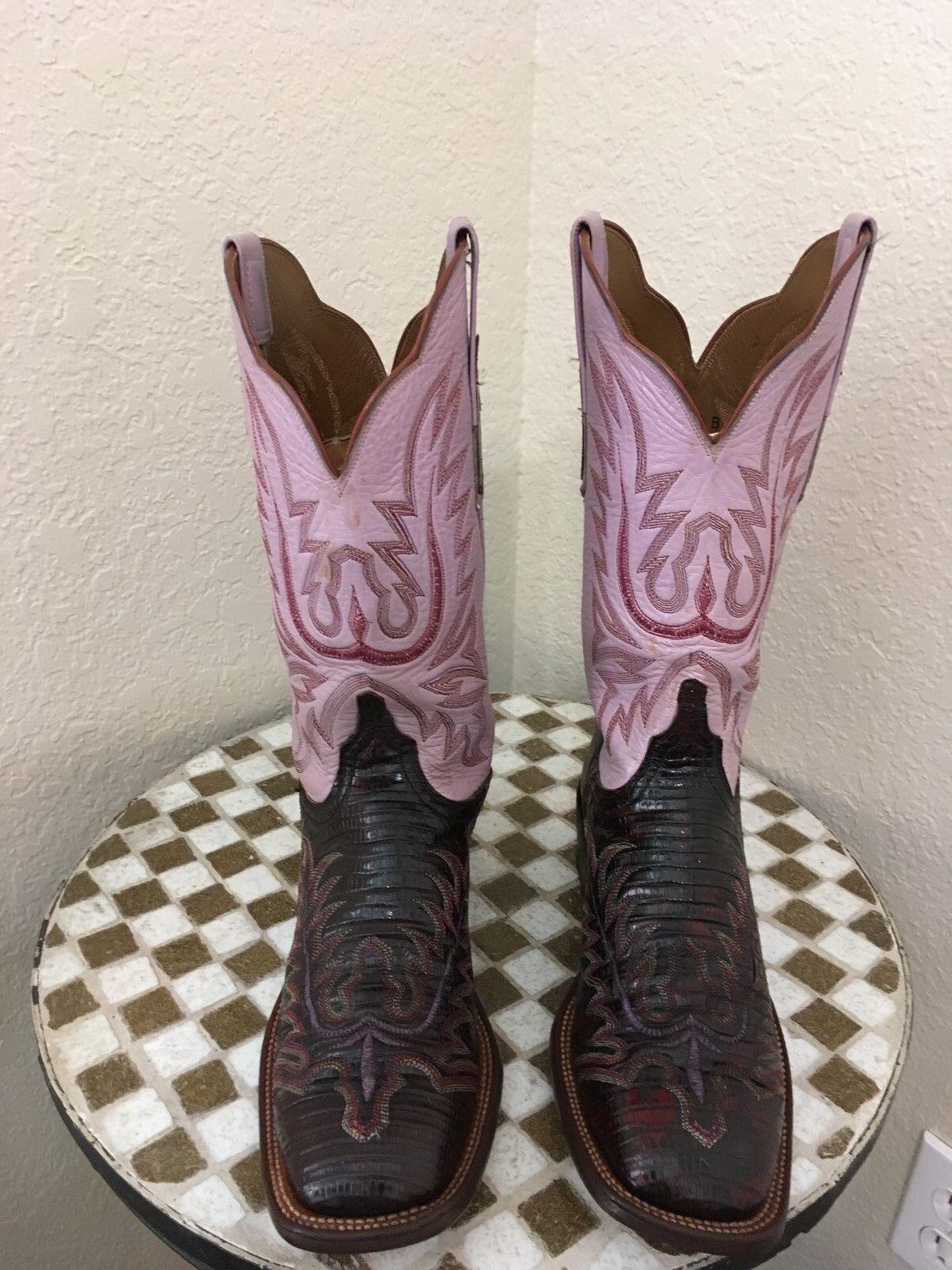 vendite dirette della fabbrica Marrone LIZARD LIZARD LIZARD LUCCHESE WESTERN COWBOY stivali 9.5 B  Miglior prezzo