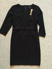 NWT JCrew $138 Long-Sleeve Midi Dress in Ponte 6 Black F5641 Office SOLD OUT!