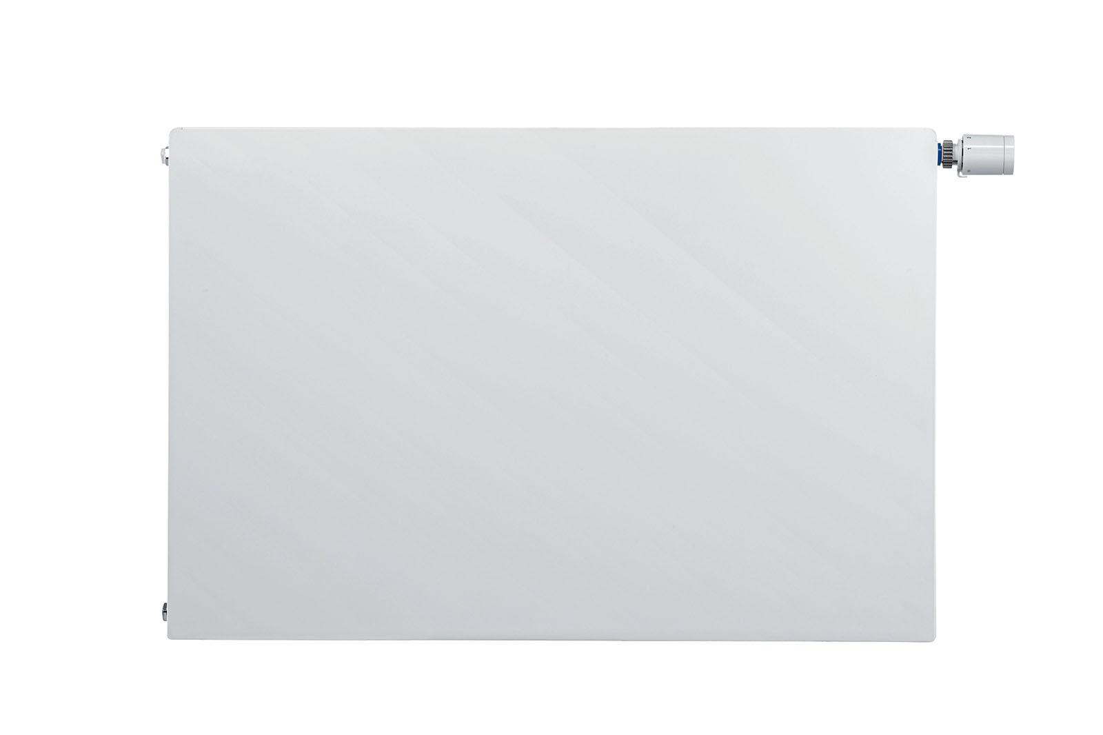 Flachheizkörper Buderus VC-plan Typ 22 900 x 900 mm links mit Wandbefest.