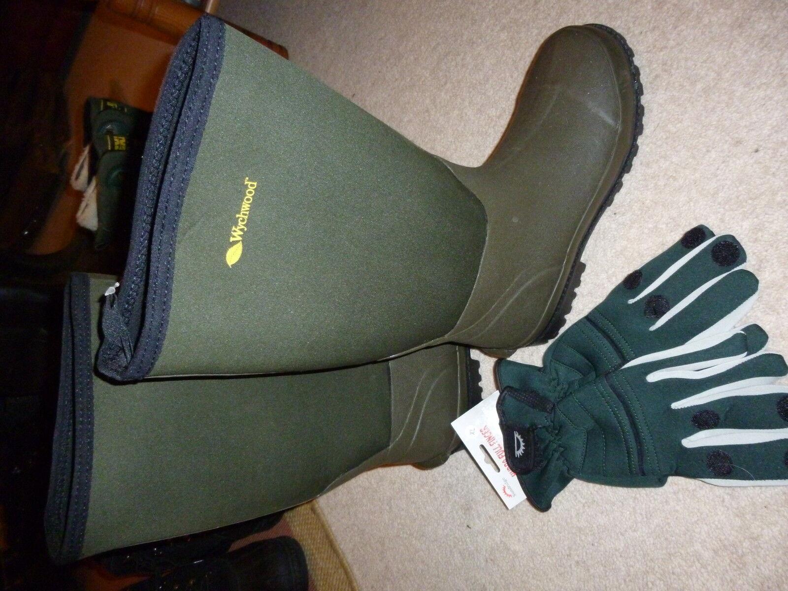 Wychwood Neopreno botas de agua con Libre De Neopreno Guantes