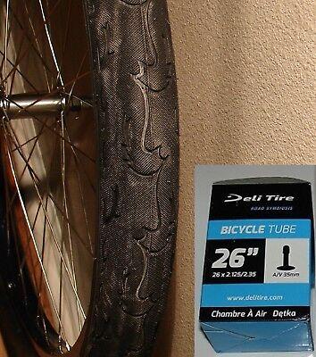 "ONE BICYCLE TIRE 26/"" X 2.125 SLICK ALL BLACK BEACH CRUSIER LOWRIDER CHOPPER BMX"