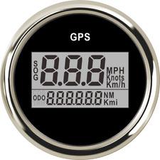 Waterproof Blue LED Backlight Car Marine GPS Speedometer kmh mph Clock Voltmeter