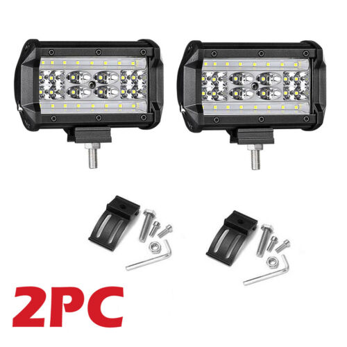 LED Work Fog Light 5 Inch Car Truck Jeep SUV Spot Flood Bar Lamps 12V 24V 112W