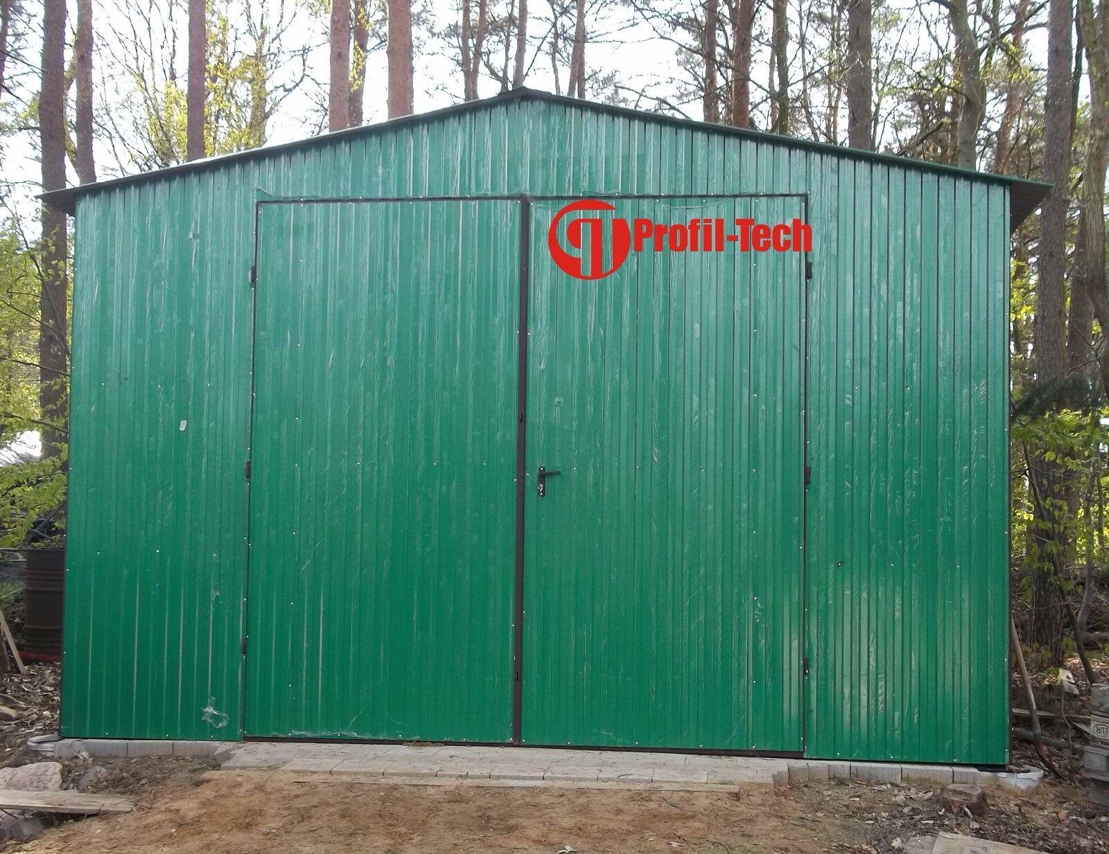 Blechgarage Fertiggarage Metallgarage LAGERRAUM GERÄTESCHUPPEN garage 4,5X4,0